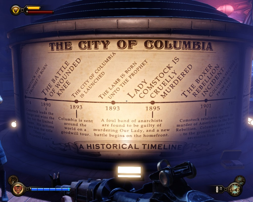 The history of Columbia, shown in the Hall of Heroes.