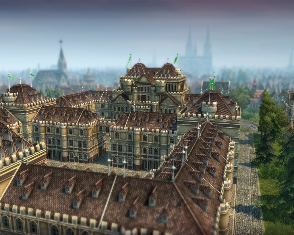 Another shot of the palace, with Goldfurt's skyline.